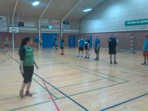 Håndboldtræning i Fynslundhallen